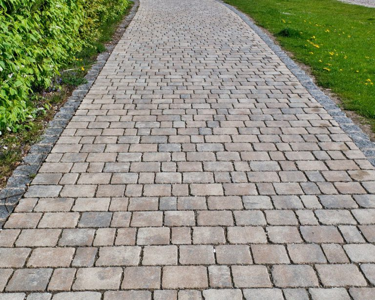 paving stones, away, road